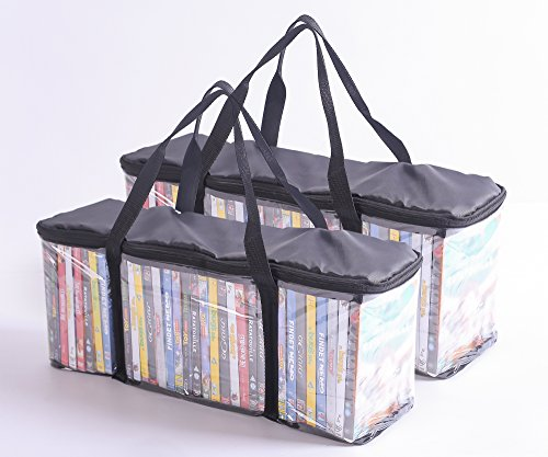 Imperius DVD Storage Collection Bag Clear Black Set of 2 Each holds 40 DVD