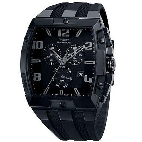 Reloj analógico cronógrafo y acero Sandoz 81315-99 color negro correa hombre caractere: Amazon.es: Relojes