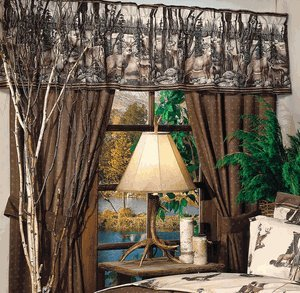 Whitetail Dreams - Deer Print - Shower Curtain and Matching Window Valance/Drape Set (1 Shower Curtain, 1 Valance/Drape Set) Decorate your Bathroom and SAVE BIG ON BUNDLING!