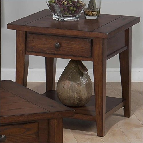 Jofran Clay County End Table - Medium Oak