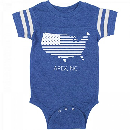 July 4th USA Apex, NC Pride: Infant Rabbit Skins Football - Apex Suit