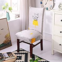 HoneiLife Spendex Dining Chair Slipcovers - 4 Pack Removable Dining Chair Covers Wrinkle and Stain Resistant Chair Protector Fitted Stretch Cushion Covers for Dining Room,-Little Fox
