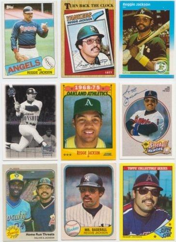 Reggie Jackson / 50 Different Baseball Cards Featuring Reggie Jackson! No Duplicates