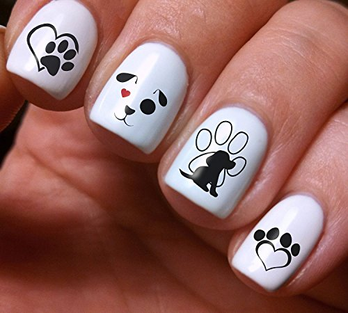 Nail Art Decals Set 3D DIY Dogs Puppies Colorfu - Original Beauty Fashion Style High Quality Design Decoration Water Transfer- The best products for kids, teens, girls and women