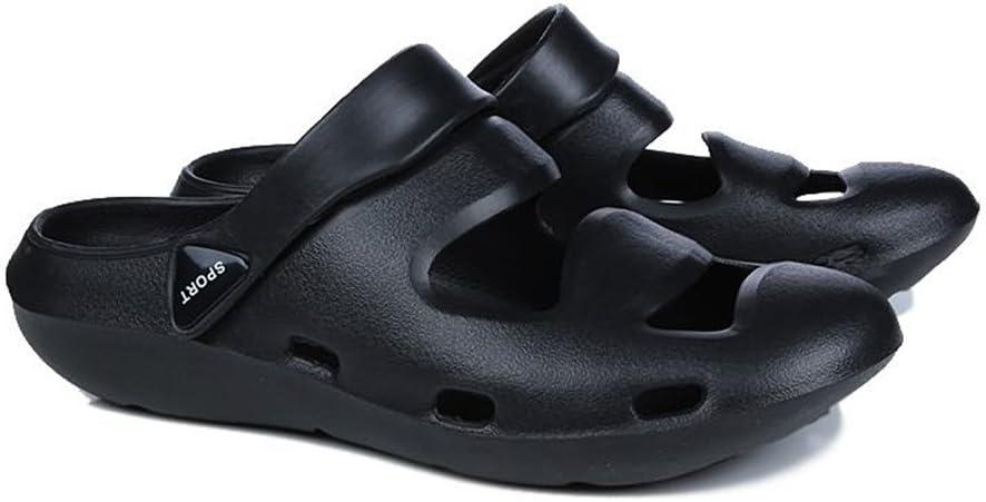 Slipvastheid mode comfortabele heren pantalen platte hiel hol eenkleurig gesloten tenen sandalen tot maat 45EU vrije tijd pantoffels  Blanco Y Gris