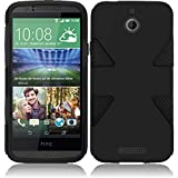 Cell Accessories For Less (TM) For HTC Desire 510 512 Dynamic Slim Hybrid Cover Case - Black+Black + Bundle (Stylus & Micro Cleaning Cloth) - By TheTargetBuys
