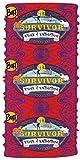 Buff CBS Survivor Headwear-Season 38-Edge of Extinction Merged Vata Tribe-Red
