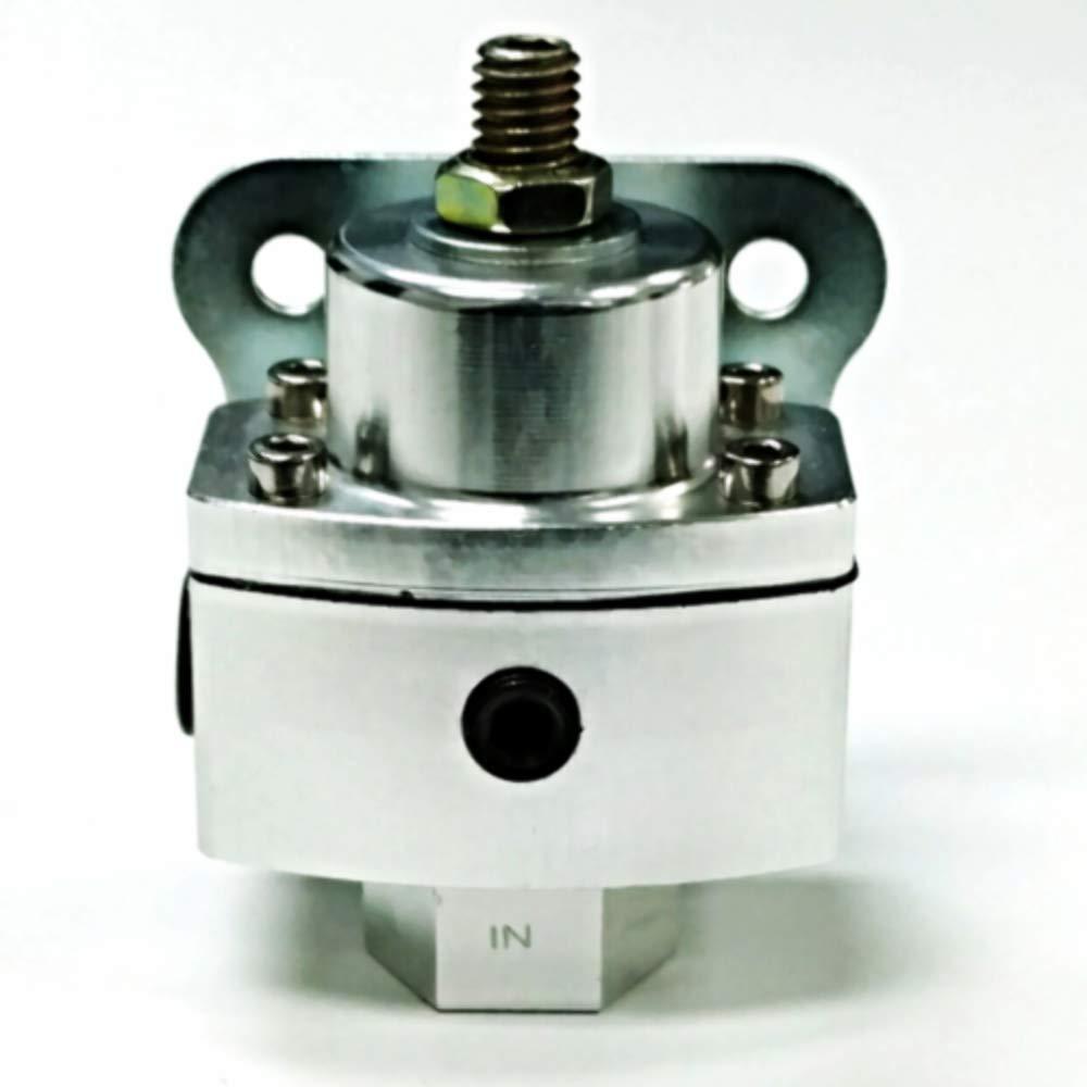 3//8 Npt Ports 5-12 Psi Aluminum Adjustable Fuel Regulator W//Black Gauge