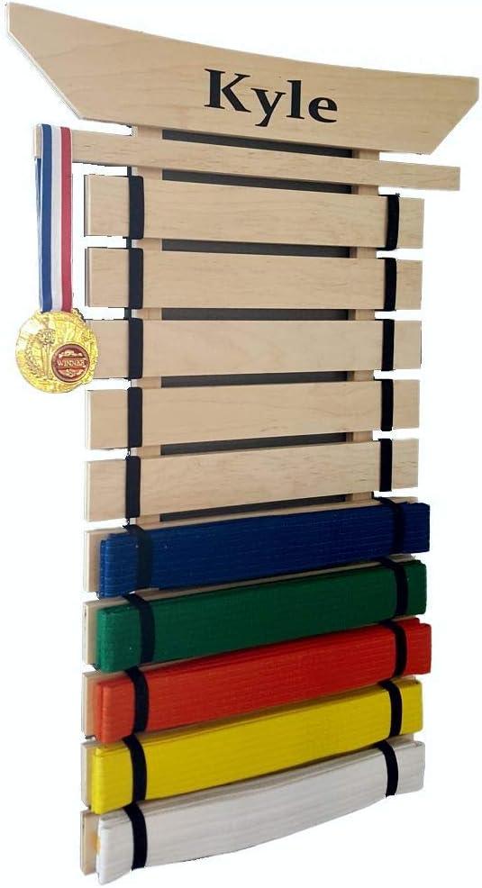 Personalized Karate Belt Holder Asian Top 10 Lev Martial arts belt Display