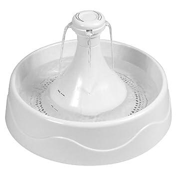 Jizhen Fuente para Mascotas, dispensador de Agua para Gatos y Perros, dispensador automático silencioso
