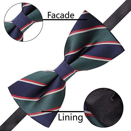 AUSKY 8 PACKS Elegant Adjustable Pre-tied bow ties for Men ...