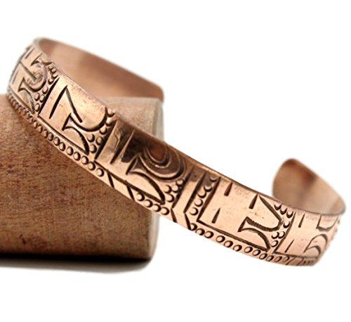 (Healing Lama Pure Copper Tibetan Healing Bracelet. Om Mani Padme Hum Mantra Bracelet.)