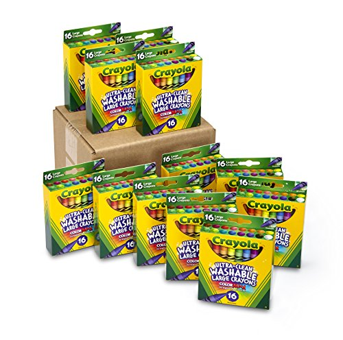 Crayola Ultra-Clean Washable Crayons, Bulk Set, 12 Packs of 16 Count