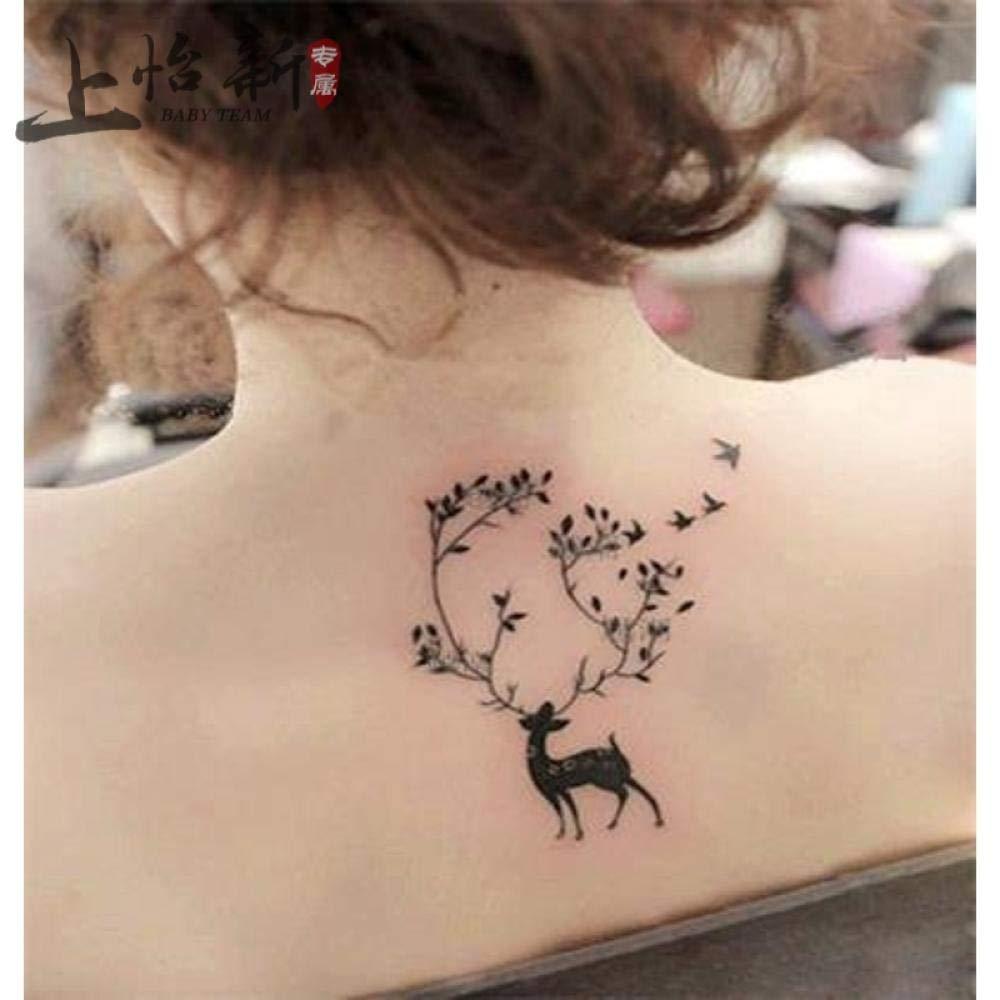 Etiquetas engomadas del tatuaje del ciervo de Europa y los Estados ...