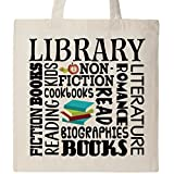 Inktastic - Library Books Reading Librarian Gift Tote Bag Natural