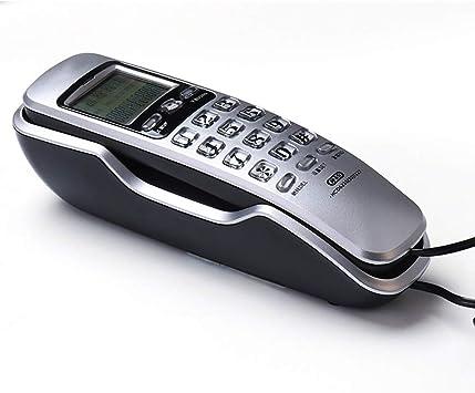 D-H Teléfonos analógicos Mini teléfono de Pared Identificador de Llamadas Dual Oficina en casa Memorias entrantes del Hotel Identificador de Llamadas Devolución de Llamada Pantalla LCD Teléfono Fijo: Amazon.es: Electrónica