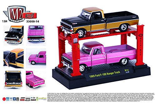 ER TRUCK (Release 14) * M2 Machines Auto-Lift 2-Pack * 2015 Castline 1:64 Scale Die-Cast Vehicles & Auto-Lift Display Set (R14 15-08) ()