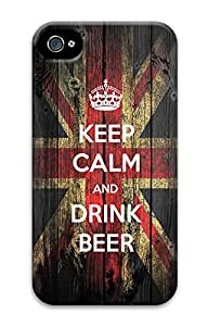 iPhone 4 4s Cases & Covers - Keep Calm And Drink Beer PC Custom Soft Case Cover Protector for iPhone 4 4s