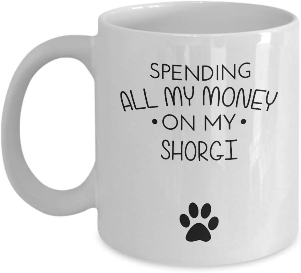 Divertido vaso de chupito de Cirneco Dell 'etna - Gastando todo mi dinero en mi Cirneco Dell' etna - Divertido amante de los perros Idea de regalo para mejores amigos Regalo de cumpleaños único Taza d