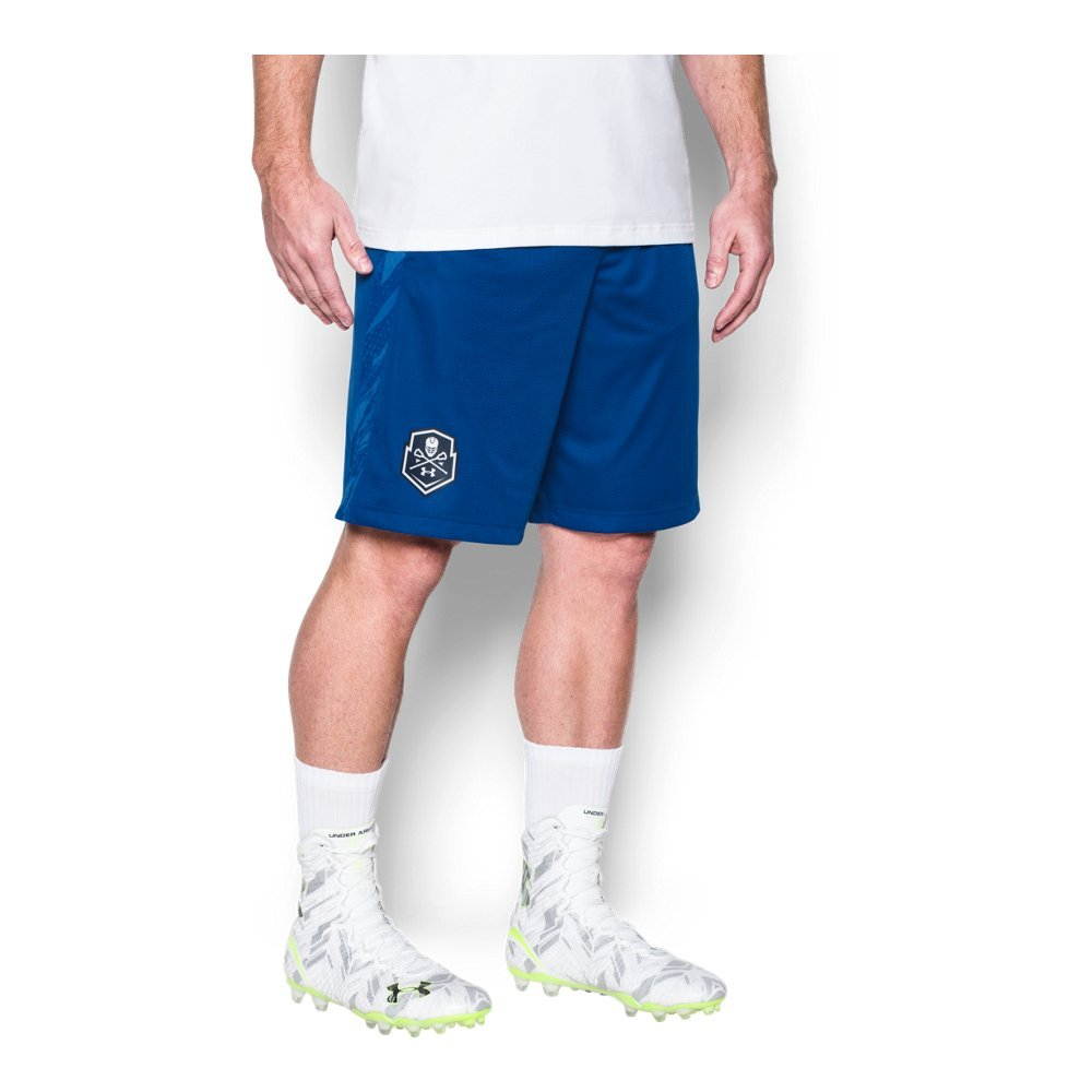 Under Armour Men's Lax Tech Mesh Shorts, Royal (400)/White, X-Large