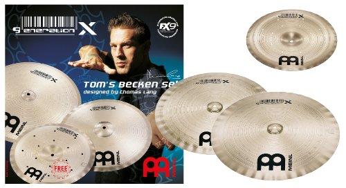 Meinl Cymbals GX-TB14/17/18 Generation-X Thomas Lang Becken Cymbal Set: 14 Inch China, 17 Inch Crash, 18 Inch Crash