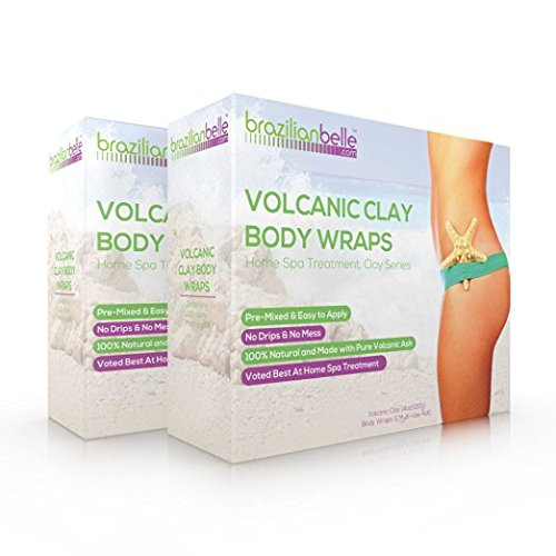 Spa Na Box Review (Brazilian Belle Volcanic Clay Body Wrap - Home Spa Treatment Kit for Weight Loss - Perfect for Stomach, Arms, Thighs & More - 100% Natural Ultimate Wraps for a Slimmer)