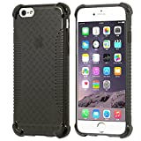 iPhone 6 Case, LUVVITT® CLEAR GRIP iPhone 6 Case **NEW** iPhone 6 4.7 inch Screen iPhone Air Case - iPhone 6 Case 4.7 - Soft Slim Transparent TPU Clear Case / Bumper Cover ( Does NOT fit iPhone 5 5S 5C 4 4s or 5.5 inch screen) - Transparent Black
