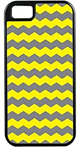 Design For Iphone 6 4.7Inch Cover Zigzag Wave Design Yellow and Dark GrIdeal Gift