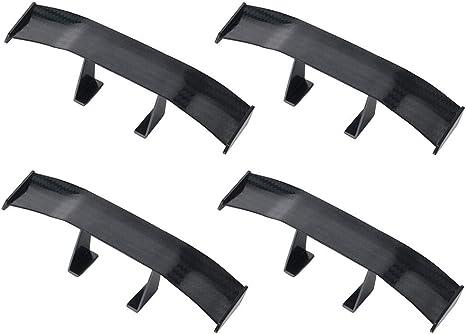 Itimo de voiture Mini Queue Spoiler Aile sans perforation v/éhicule D/écoration de queue de stabilit/é en fibre de carbone universel