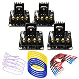 SIMPZIA 3D Printer Heat Bed Power Module General Add-on Hot Bed Power Expansion Board MOS Tube High Current Load Module - 4 Pack