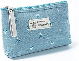 HOUHOUNNPO Sac de Rangement Pliable à la Mode Sac cosmétique Pouch Bag Make-up pour Les Femmes (Bleu) Pochette Cosmétique Femme
