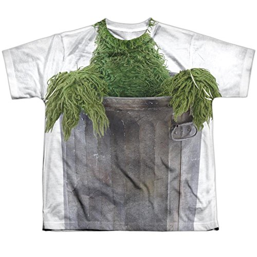 Youth: Sesame Street- Oscar Costume Tee Kids T-Shirt Size (Kids Oscar The Grouch Costume)