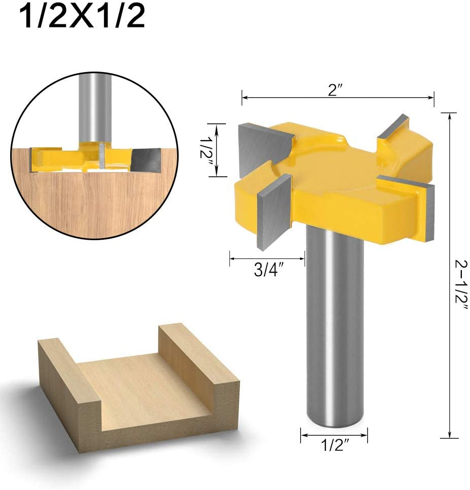 1//2 Inch Shank Cutting Diameter 4 Flute Slab Flattening Carbide Planer Router Bits Grooving Router Bits SHYOSUCCE CNC Spoilboard Surfacing Router Bit 5//16 inch Cutting Diameter 1PC