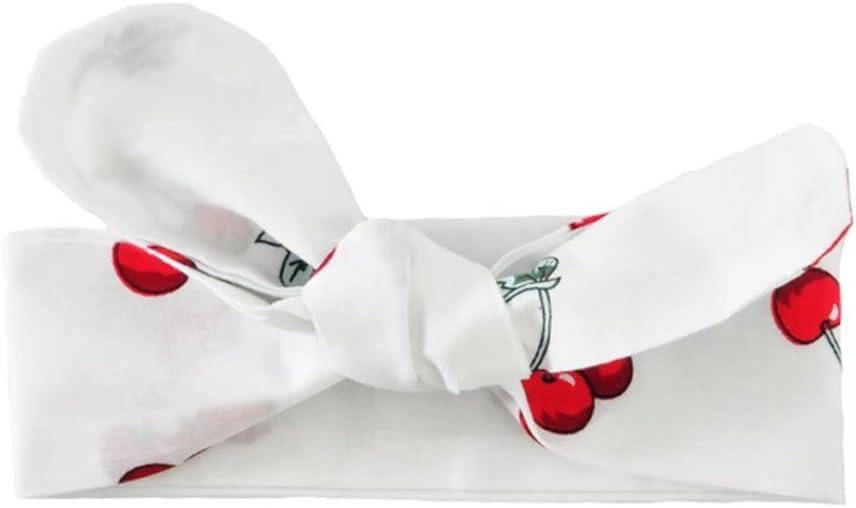 YOYO bambino neonato ragazza Cherry gioco tuta tuta senza maniche pagliaccetto Jumpsuit Head Band 70 cm