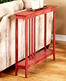 Slim Space-Saving Accent Table Antiqued Country Red