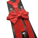 Kyпить 4everStore Unisex Bow Tie & Suspender Sets, Red на Amazon.com
