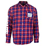 New York Giants Wordmark Basic Flannel Shirt Double Extra Large