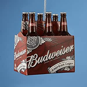 Happy Hour Budweiser 6 Pack Of Bottled Beer Christmas Ornament Home Kitchen