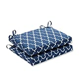Pillow Perfect Outdoor/Indoor Garden Gate Squared Corners Seat Cushion (Set of 2), Navy Review