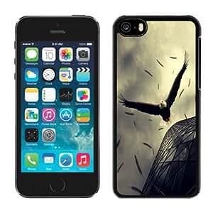 NEW Fashion Custom Designed Cover Case For iPhone 5C Eagle Rush Black Phone Case