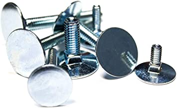 Quantity: 500 1//4-20 X 3 1//4 Carriage Bolts//Fully Threaded//Steel//Zinc