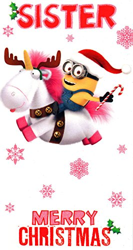 despicable me minion merry christmas sister card - Minion Merry Christmas