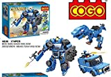 Babytintintm Cogo Coll Song 174 Pcs Series 4836 3 In 1 Model Making Blocks Cogo Robot Dinasaur Jeep Car Building Blocks Set