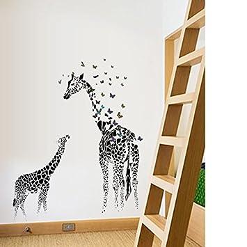 Beyond Wandsticker Giraffe schwarz Wandtattoo Wandbilder ...