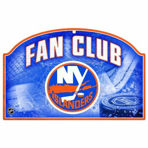 - WinCraft NHL New York Islanders 11/17-Inch Fan Club Wood Sign