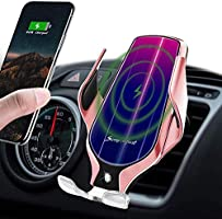 LUKKAHH Wireless Car Charger Mount,Auto-Clamping Air Vent Phone Holder,10W Qi Fast Car Charging,Compatible iPhone 11/11...