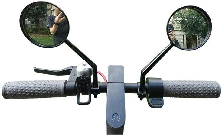 Tinke Espejo retrovisor Scooter Ajustable Espejo retrovisor de Bicicleta Espejo de Espejo para Xiaomi Mijia M365 Ninebot ES1 ES2 Scooter