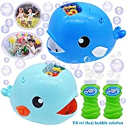 JOYIN 2 Bubble Machines Whale Bubble Maker Automatic Bubble Blower 2000+ Bubbles Per Minute for Kids, Summer T