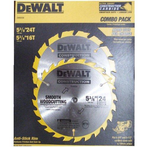 Dewalt Combo Pack 2 Ultra Sharp Construction Grade Carbide Blades (1)- 5-3/8