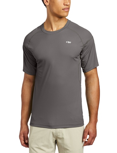 Price comparison product image Outdoor Research Men's Echo Tee,  Pewter / Lemongrass,  Small